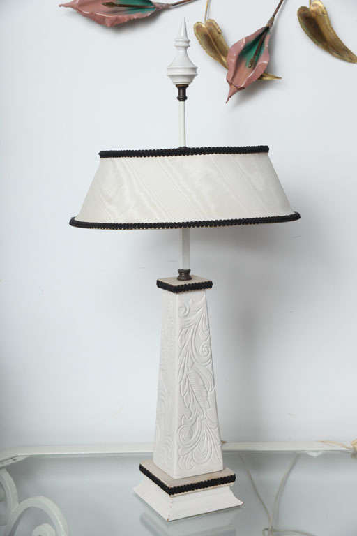 very unique palm beach desk table lamp for sale at 1stdibs. Black Bedroom Furniture Sets. Home Design Ideas