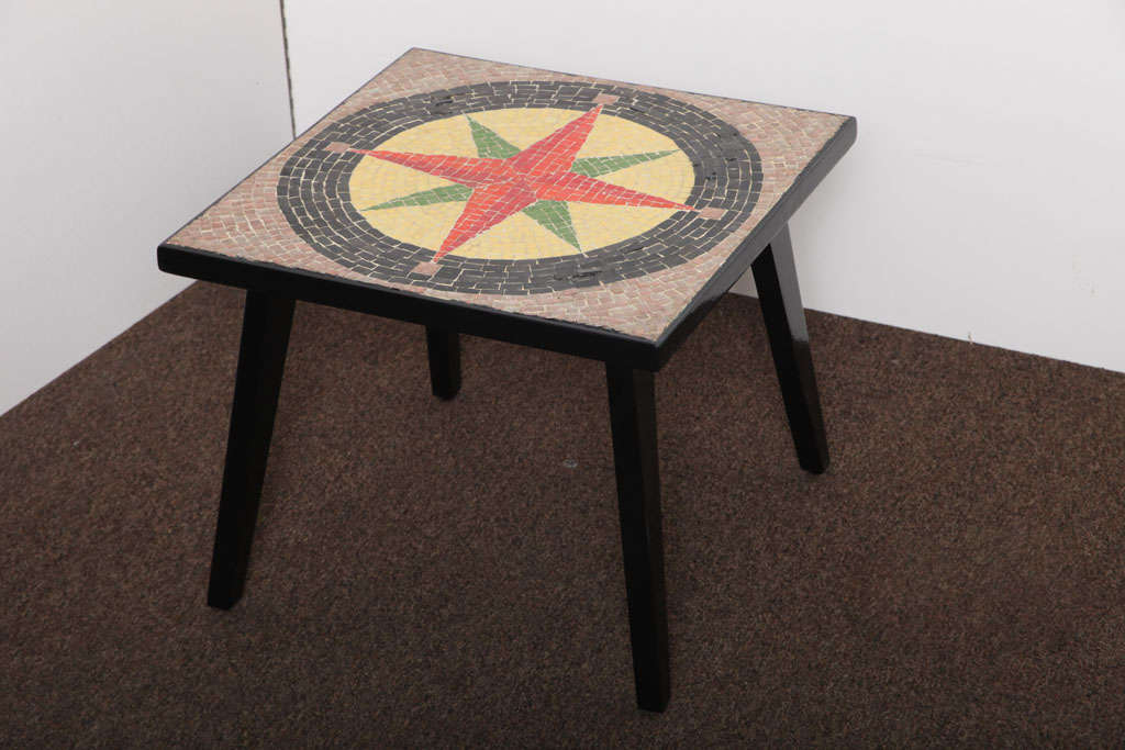 Southern Cross 50's Mosaic Low Accent Table For Sale At