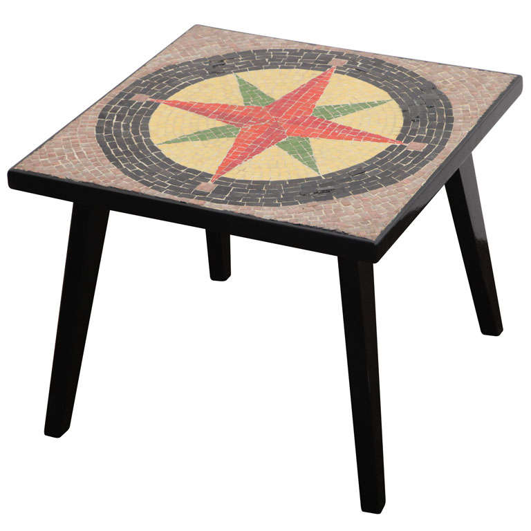 Southern Cross 50's Mosaic Low Accent Table