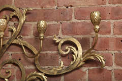Beaux-Arts Gold French Wall Candelabra image 9