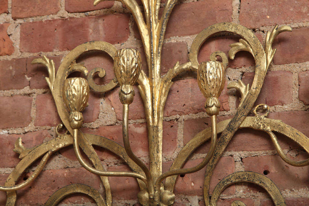Beaux-Arts Gold French Wall Candelabra 4