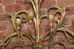 Beaux-Arts Gold French Wall Candelabra image 4
