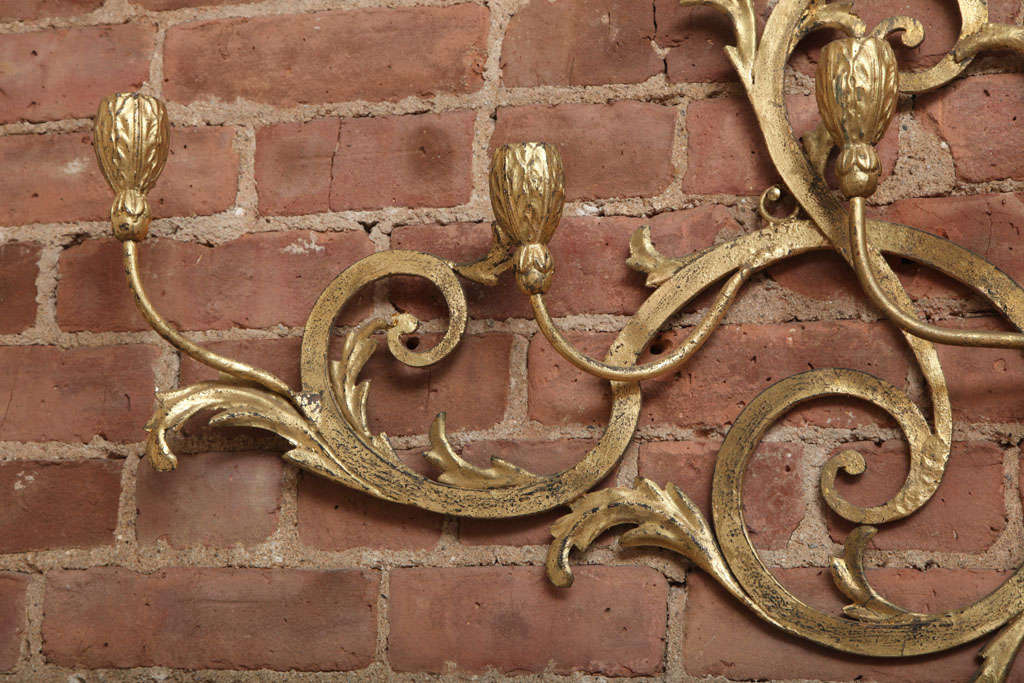 Beaux-Arts Gold French Wall Candelabra 5