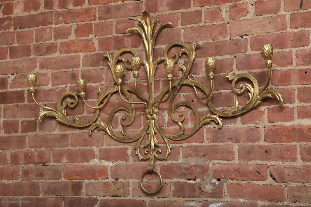 Beaux-Arts Gold French Wall Candelabra 2
