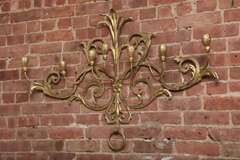 Beaux-Arts Gold French Wall Candelabra image 2