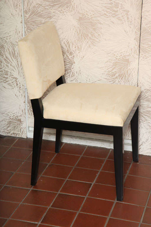 Set of  Four Modern Ultrasuede Chairs For Sale 5