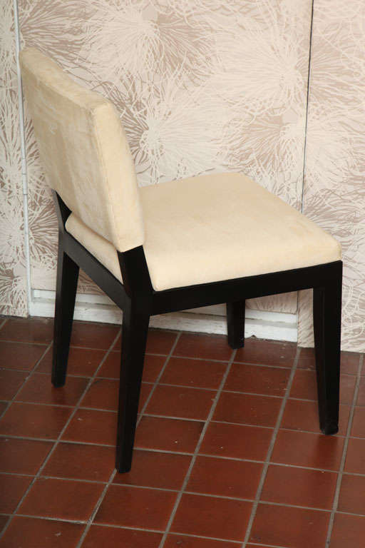 American Set of  Four Modern Ultrasuede Chairs For Sale