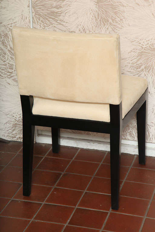 Set of  Four Modern Ultrasuede Chairs For Sale 1