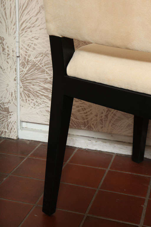 Set of  Four Modern Ultrasuede Chairs For Sale 2