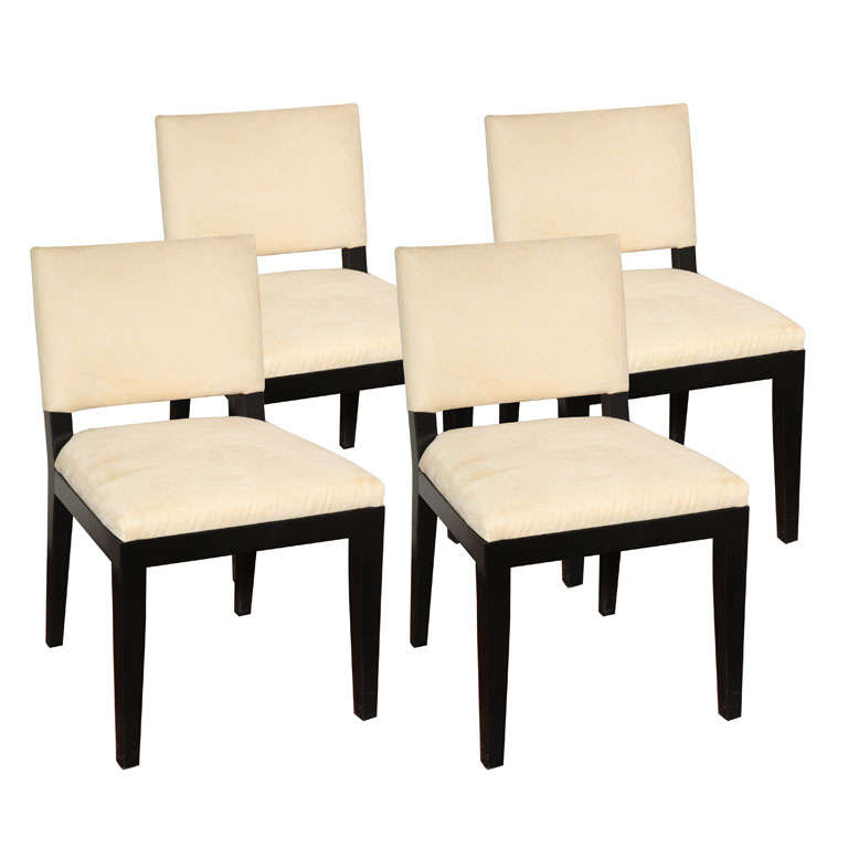 Set of  Four Modern Ultrasuede Chairs For Sale