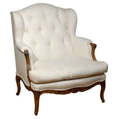19th Century French WingBacked Arm Chair