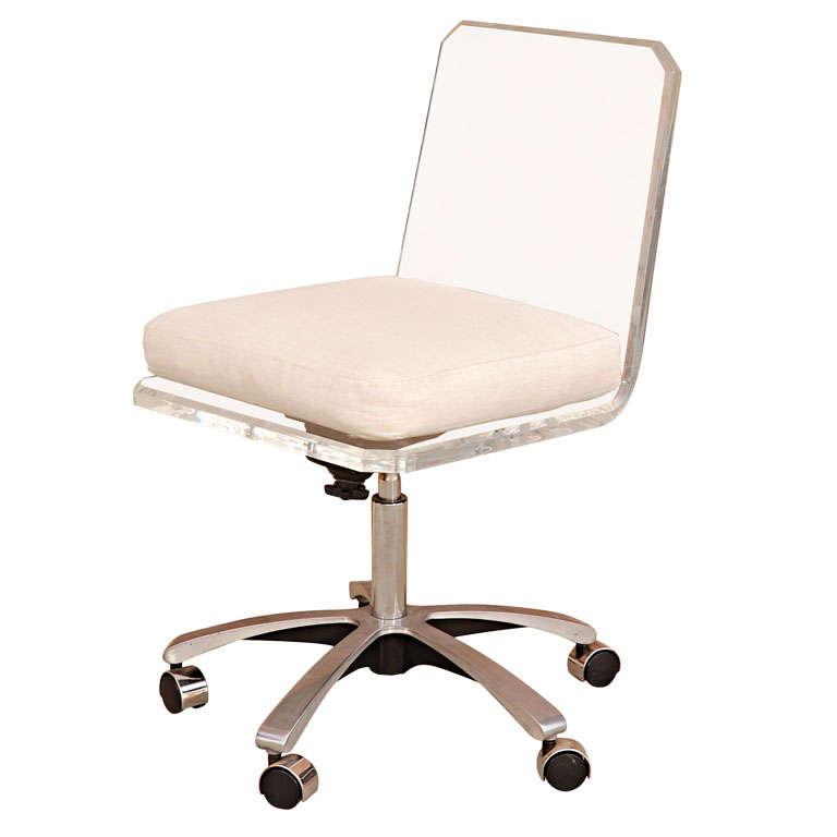 White Swivel Desk Chair Home Design 2017