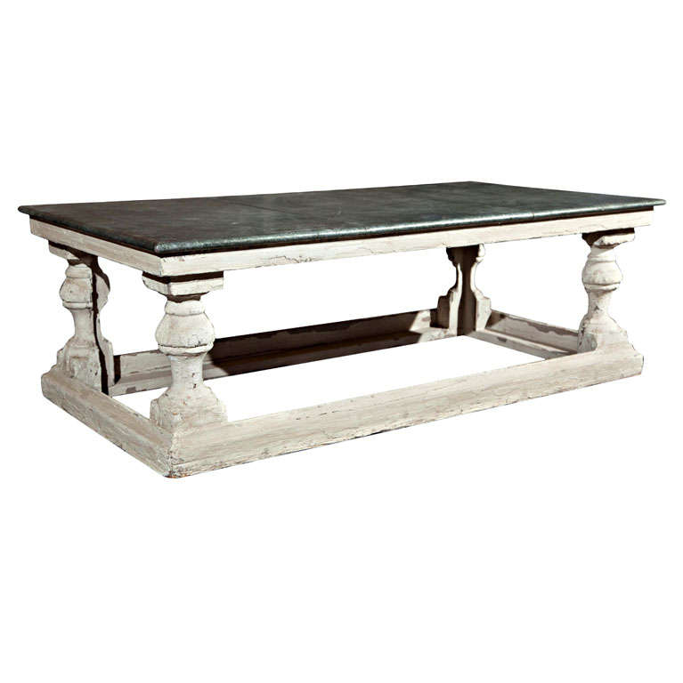 Belgian Zinc Top Coffee Table At 1stdibs