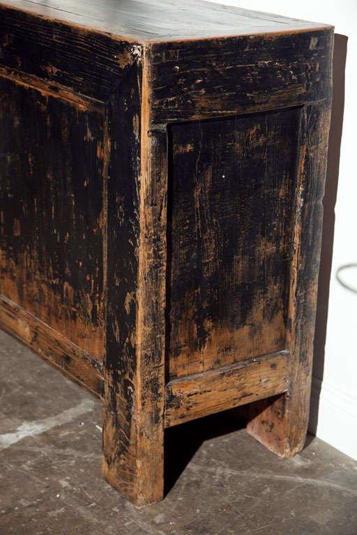 Chinese black lacquered elm cabinet at 1stdibs for Chinese furniture norwalk ct