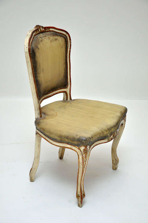 pair of french rococo painted chairs for sale at 1stdibs. Black Bedroom Furniture Sets. Home Design Ideas