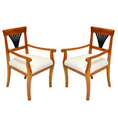 Pair of Biedermeier Armchairs