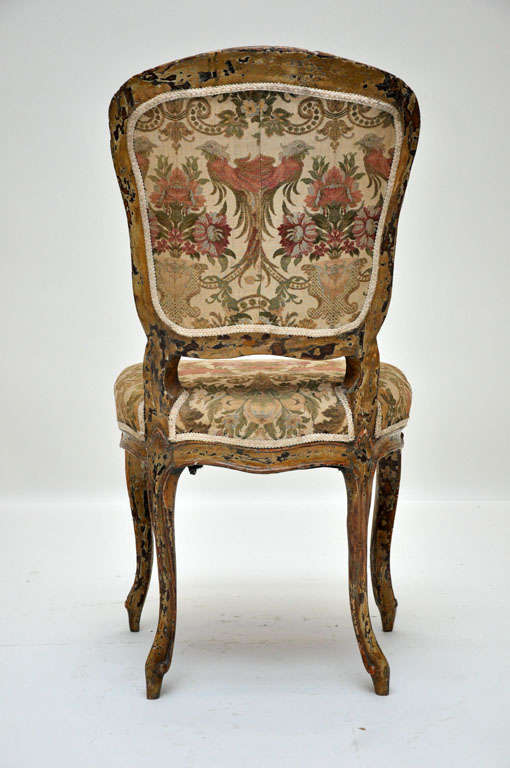 Pair of French Rococo Painted Louis XV Style Chairs In Good Condition For Sale In Chicago, IL