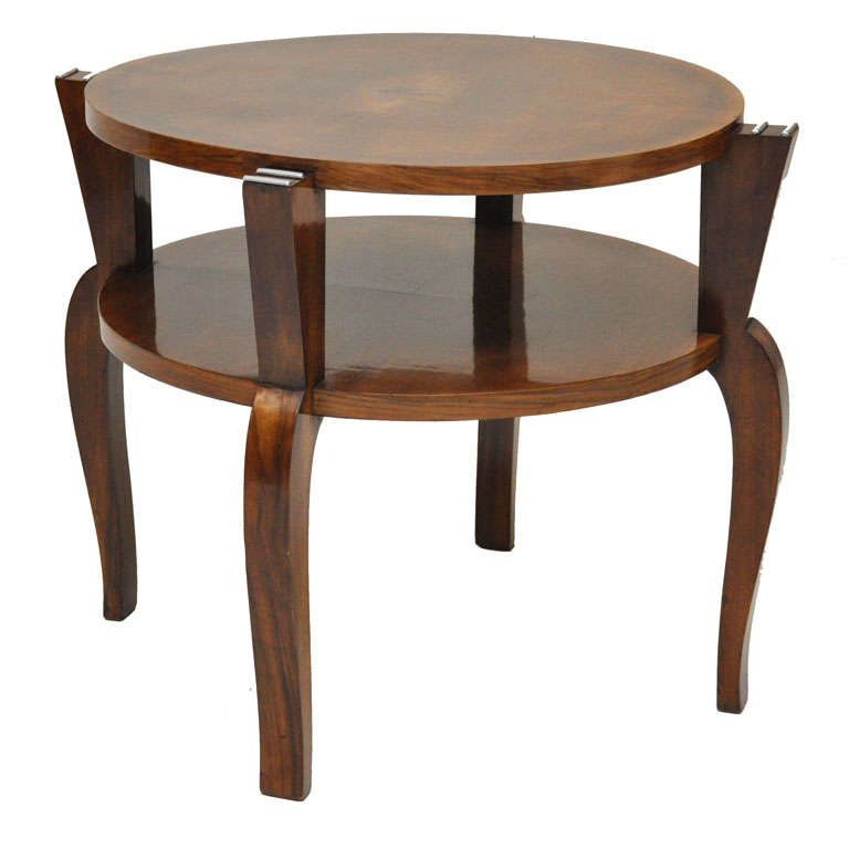 French Art Deco Walnut Occasional Table For Sale At 1stdibs