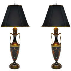 Pair of Greek Urn Table Lamps