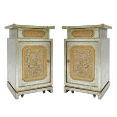Pair of End Cabinets in the Manner of James Mont