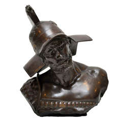A Bust of a Gladiator by Richard Aurili