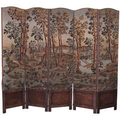 19th Century Tapestry Screen