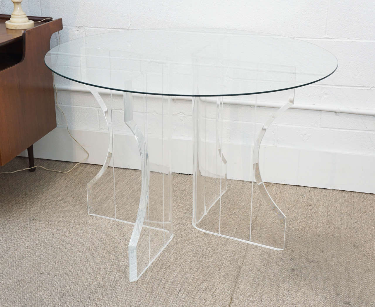 Lucite Table Base At 1stdibs