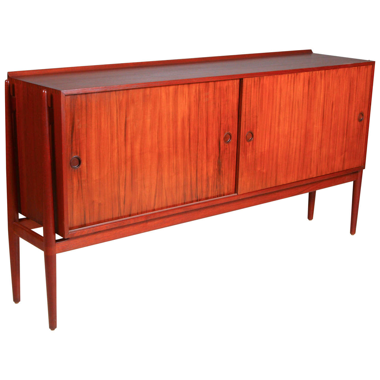 Finn Juhl Designed Teak Cabinet Made By Neils Vodder For Sale