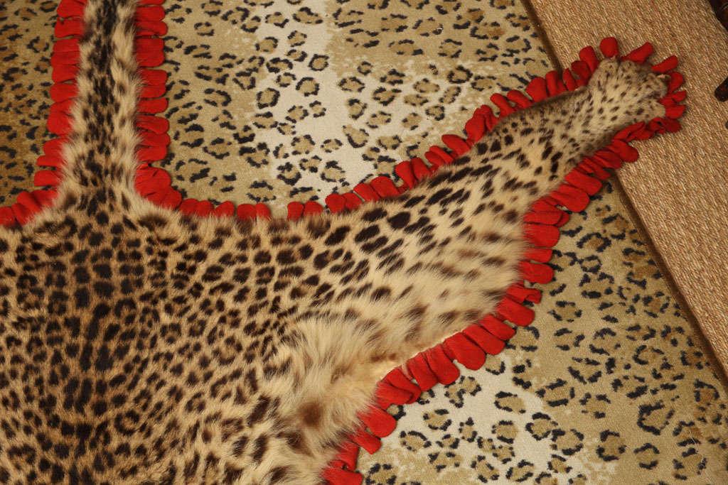 Vintage Leopard Skin Rug At 1stdibs