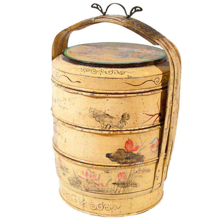 Chinese Decorated Wedding Basket At 1stdibs