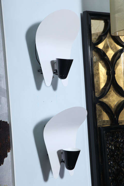 Contemporary Italian Wall Lights : Pair of Italian Modern Wall Lights For Sale at 1stdibs