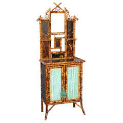Victorian Burnt Bamboo Cabinet