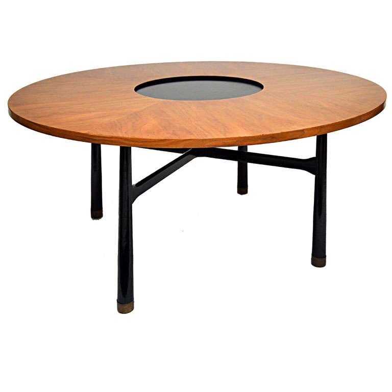 Harvey Probber Walnut Game Table At 1stdibs