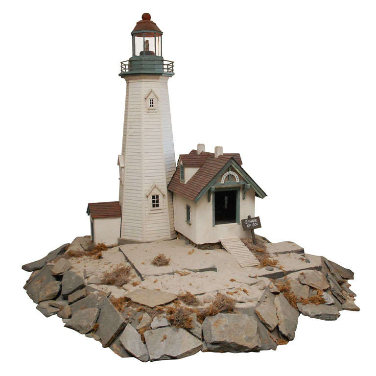 Lighthouse Scale Model At 1stdibs