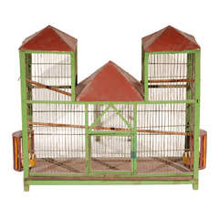 French Bird Cage-Painted Antique