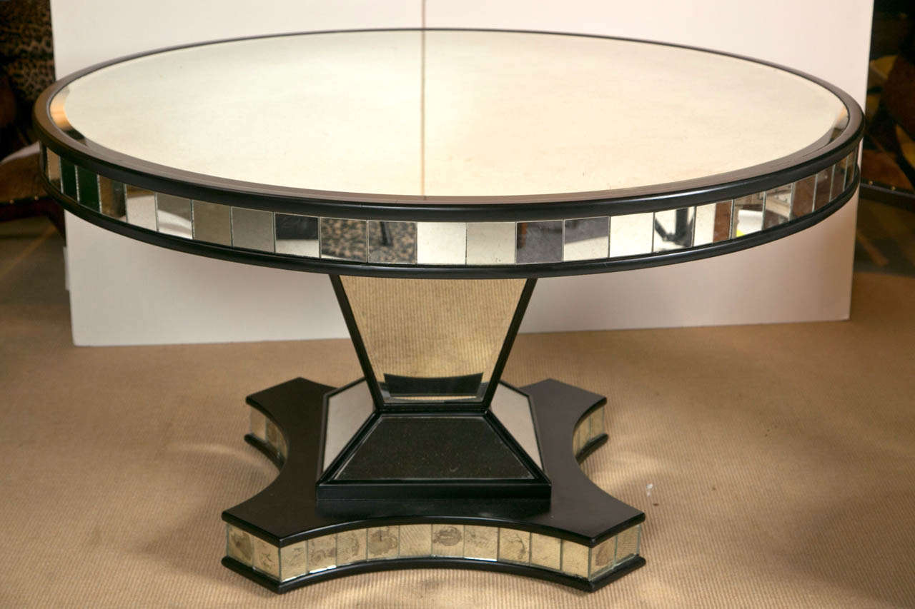 Mid Century Mirrored Pedestal Base Dining Table at 1stdibs : 6K1A4476 from www.1stdibs.com size 1280 x 853 jpeg 86kB