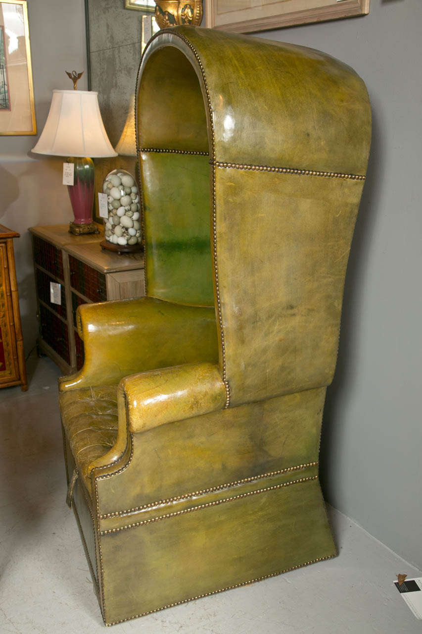 1930 39 S Green Leather Porter Chair With Storage Underneath
