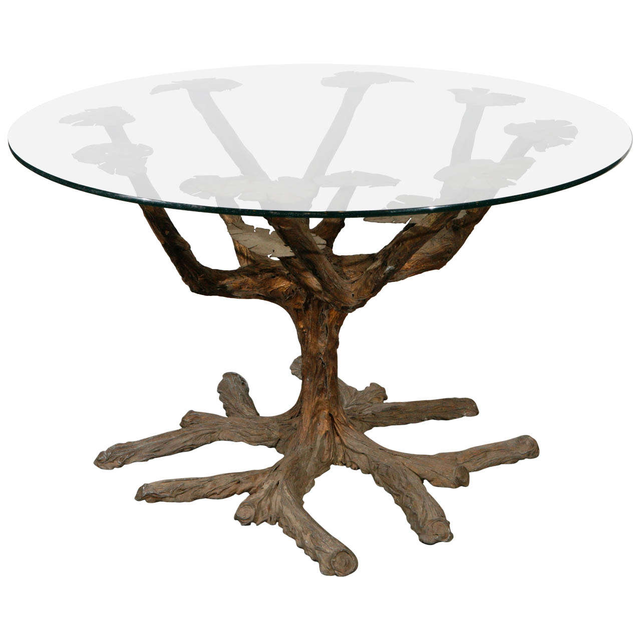 Superieur Tree Form Dining Table Base For Sale