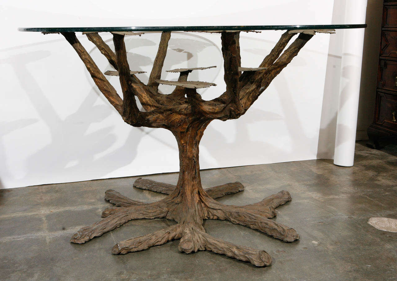 tree form dining table base at 1stdibs