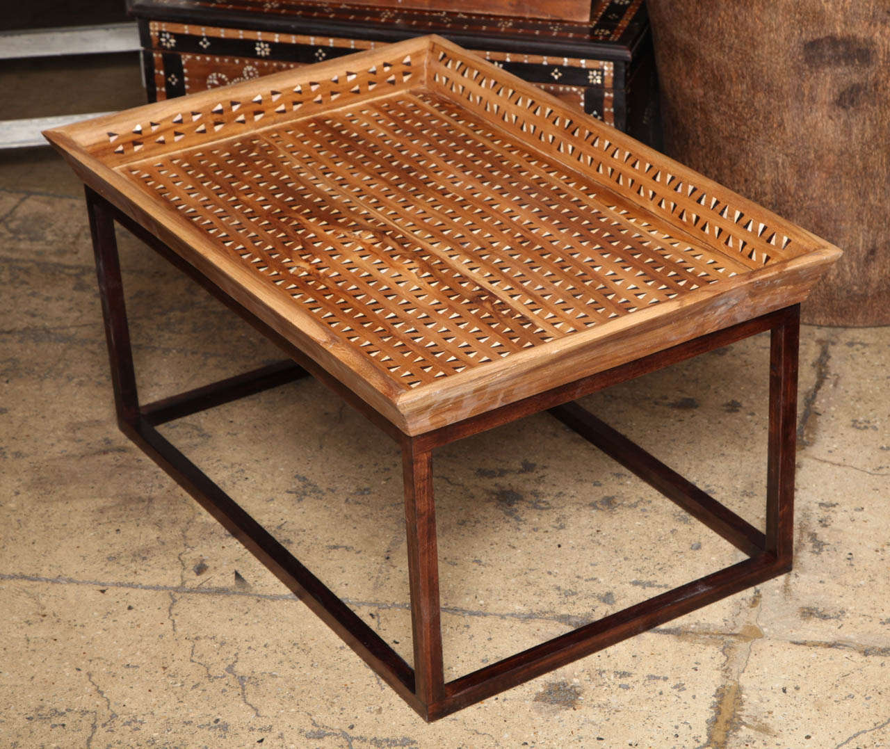 Tray Coffee Table Sale: Inlaid Tray Top Coffee Table For Sale At 1stdibs