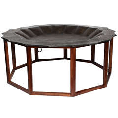 A Brass Tray Top Coffee Table