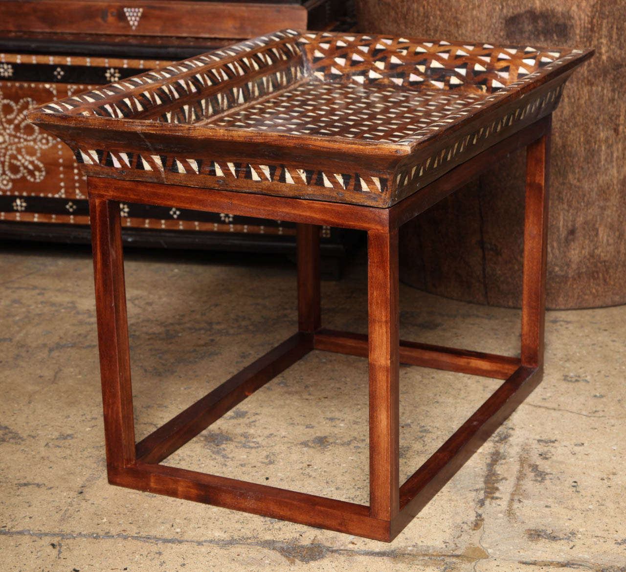 Inlaid Tray Top End Table For Sale At 1stdibs. Childrens Table And Chair Set. Daycare Tables. Myrtle Desk. Kid Desk. Table With Charging Station. Demilune Tables. Adjustable Desk Chairs. Restaurant Tables