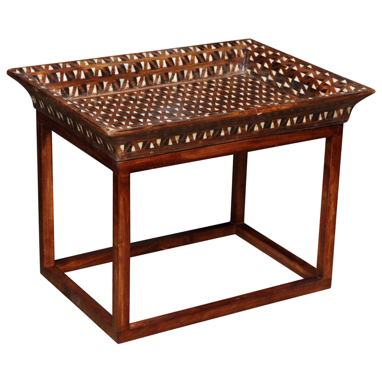 Inlaid Tray Top End Table For Sale At 1stdibs. Desk Set Movie Cast. Table Top Mill. Pier One Sofa Table. Deskes. Cheap Bedside Tables. Desk Chair Staples. Wine Barrel Tables. Butcher Block Desk Top