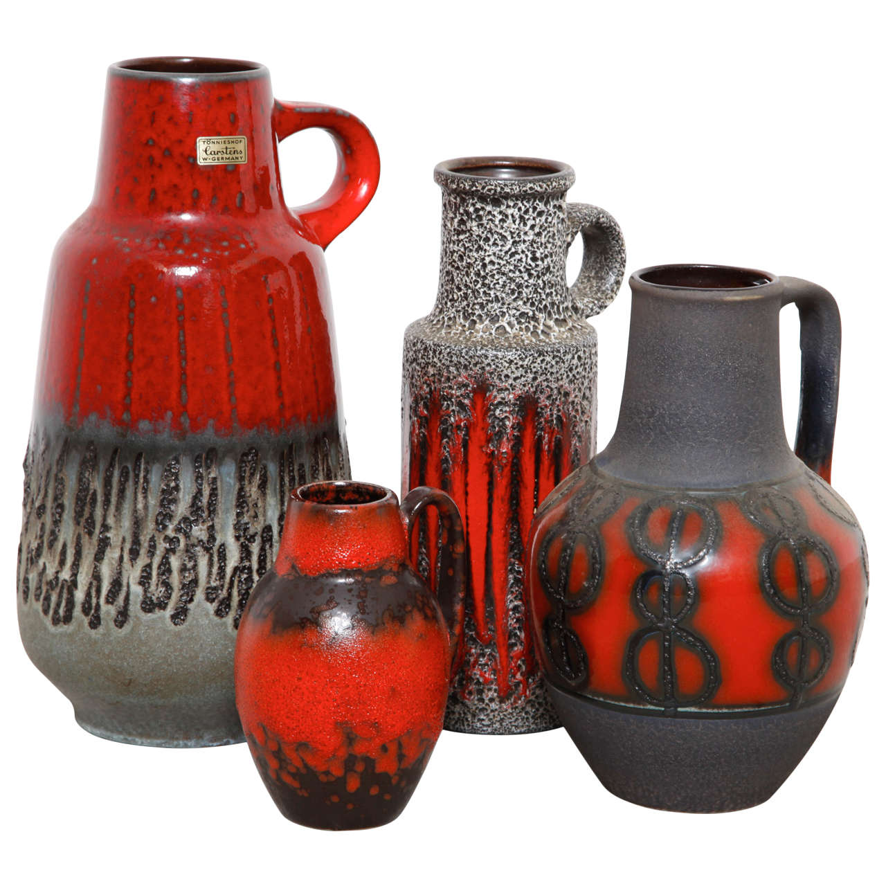 Set of four carstens tnnieshof ceramic floor vases made in west set of four carstens tnnieshof ceramic floor vases made in west germany for sale reviewsmspy