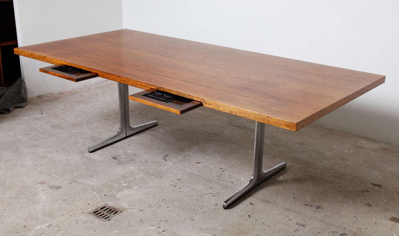 Danish Midcentury Modern Office or Architect Desk For Sale & Midcentury Modern Office or Architect Desk at 1stdibs