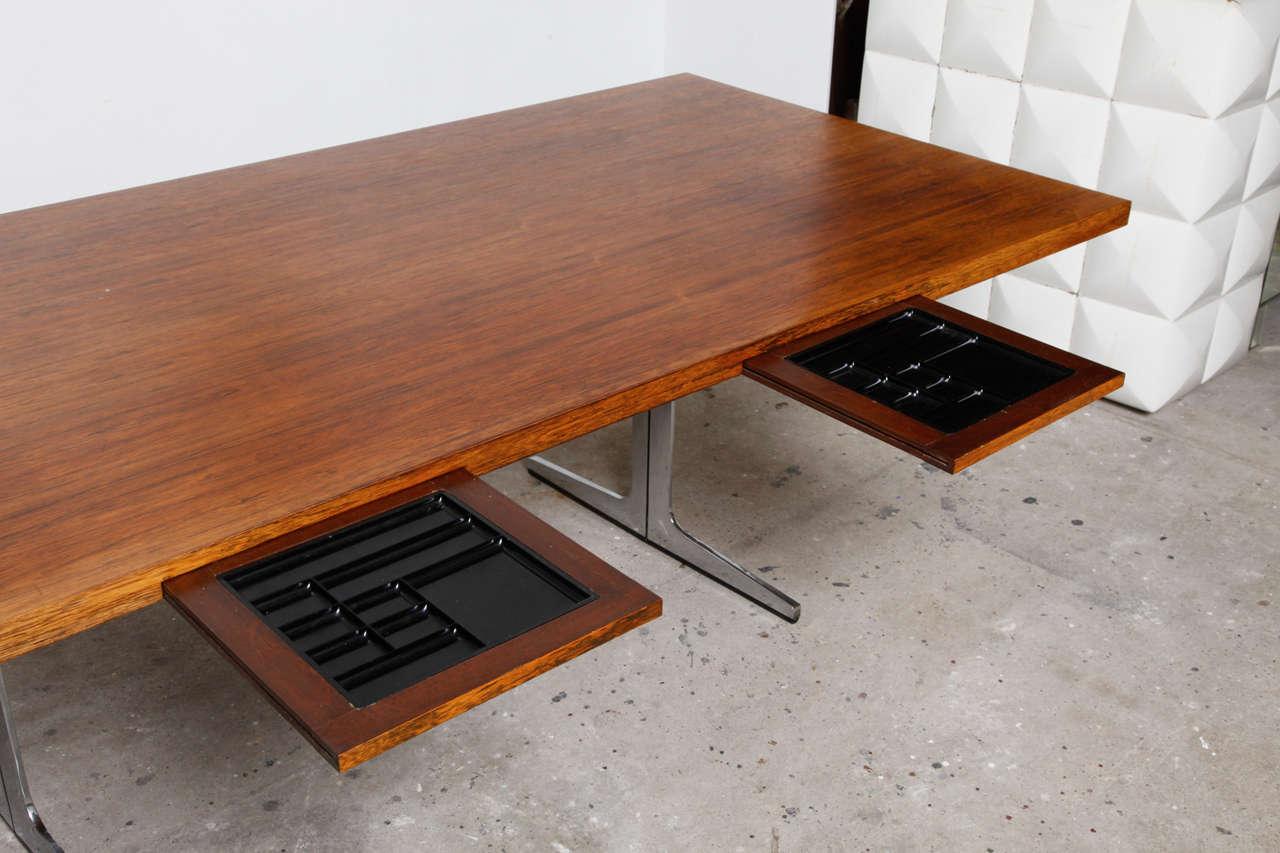 Midcentury modern office or architect desk for sale at 1stdibs for Architecte desl definition