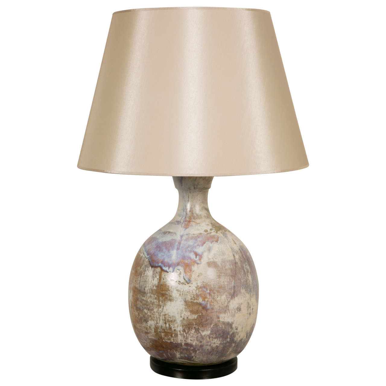 Large ceramic table lamp vallauris 1960 at 1stdibs for Ceramic table lamps