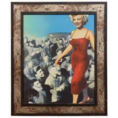 """Marilyn and the Troops"" mixed media by Victoria Fuller, 2005"