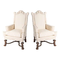 Armchairs in Renaissance style, France circa 1920