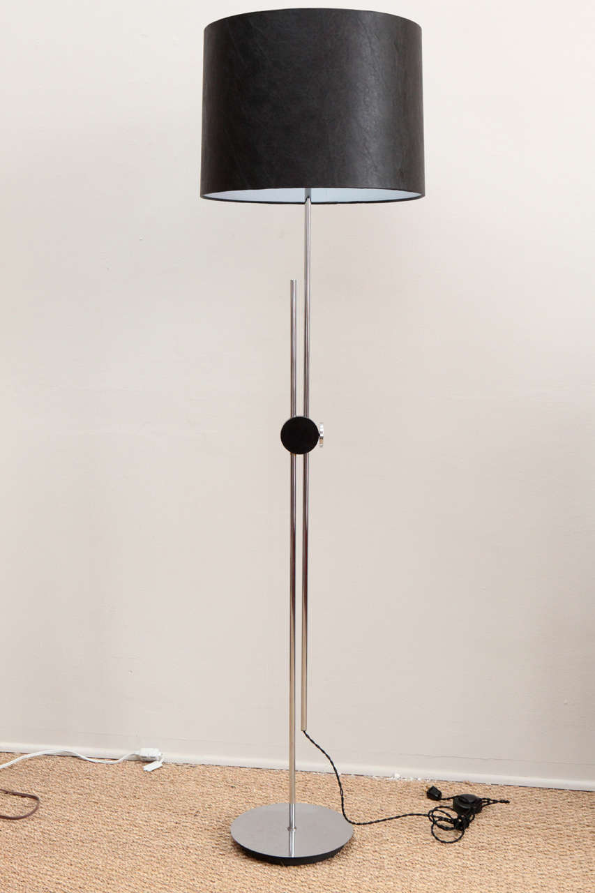 Adjustable chrome floor lamp for sale at 1stdibs for Floor lamp knob